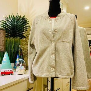 Current/Elliott Sweatshirt Button Front Cardigan
